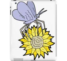 cartoon butterfly on flower iPad Case/Skin