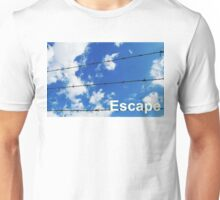 escape wording on blue sky background Unisex T-Shirt