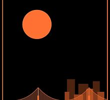 San Francisco Minimalist Travel Poster by FinlayMcNevin