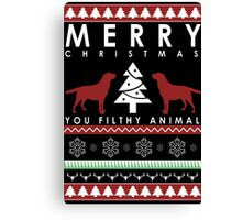 Merry Christmas you filthy animal T shirt Canvas Print
