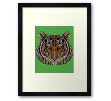 Tiger Face Abstract Framed Print