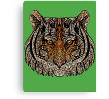 Tiger Face Abstract Canvas Print