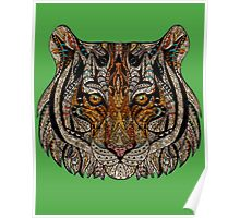 Tiger Face Abstract Poster