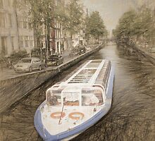 Canal Barge by Jerry Deutsch