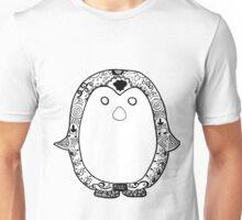 Hipster Penguin Zentangle Unisex T-Shirt