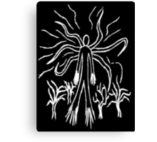 Slenderman Line Art Canvas Print