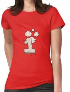 cartoon stone number one Womens Fitted T-Shirt