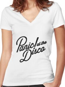 P!ATD Women's Fitted V-Neck T-Shirt