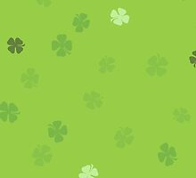 Lucky Clovers - Green Background by solnoirstudios