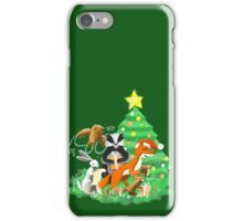 Animals of the woods at Christmas iPhone Case/Skin