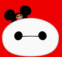 Baymax Head with Mickey Mouse Ears by Ztw1217