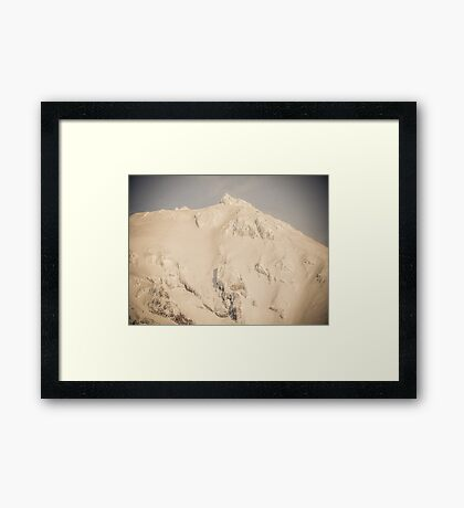To the Point photograph Mount Shasta  Framed Print