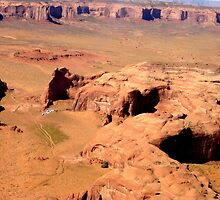 Aerial of Monument Valley, Arizona by Margaret  Hyde