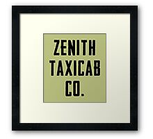 Zenith Taxicab Co. Framed Print