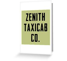 Zenith Taxicab Co. Greeting Card