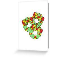 cartoon christmas wreaths Greeting Card