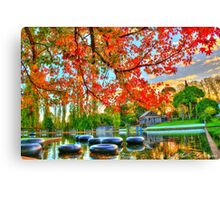 fonty's pool and caravan park Canvas Print