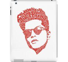 bruno mars thypography RC iPad Case/Skin