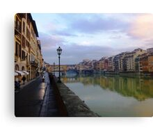 River to Road, Florence Canvas Print