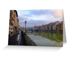 River to Road, Florence Greeting Card