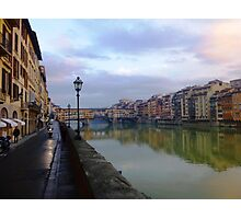 River to Road, Florence Photographic Print