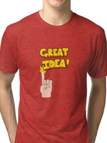 cartoon great idea symbol Tri-blend T-Shirt