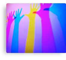 Colored silhouettes Canvas Print