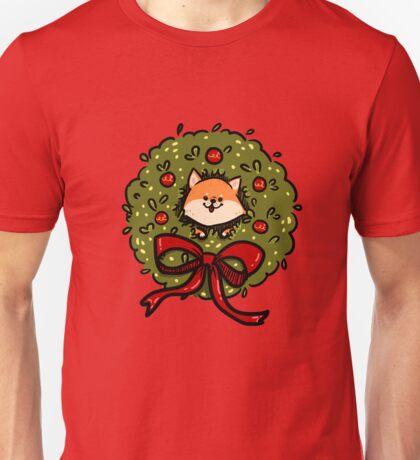 Christmas Bush Shiba Inu Unisex T-Shirt