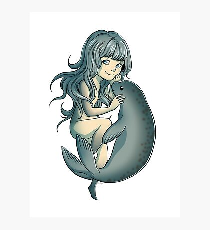 Selkie - Mythical Sea Creature Photographic Print
