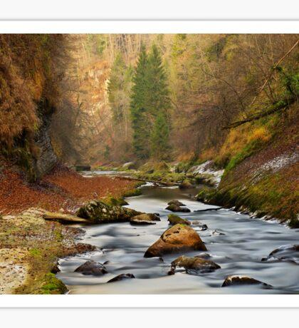 Autumn in Cheran canyon Sticker