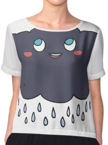 cartoon raincloud Chiffon Top