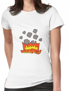 cartoon Whatever! shout Womens Fitted T-Shirt