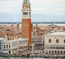 Venice from the Bell Tower San Giorgio Maggiore Cathedral by fotosic