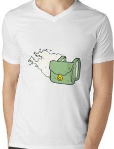cartoon backpack Mens V-Neck T-Shirt