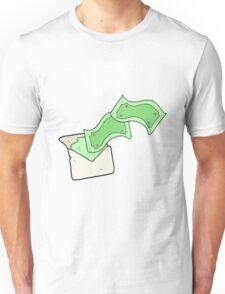 cartoon envelope full of money Unisex T-Shirt