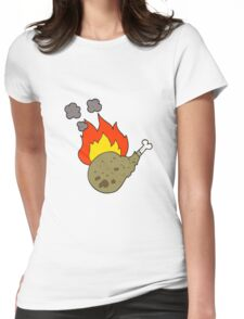 cartoon cooked meat Womens Fitted T-Shirt