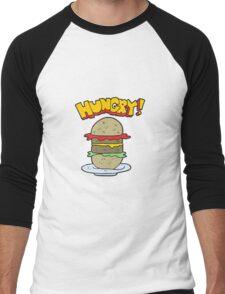 cartoon burger Men's Baseball ¾ T-Shirt