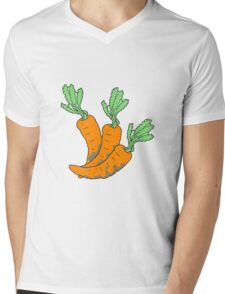 cartoon carrots Mens V-Neck T-Shirt