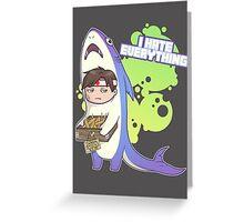 Shark Stick Man Greeting Card