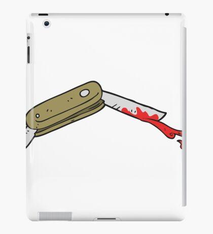 cartoon bloody folding knife iPad Case/Skin