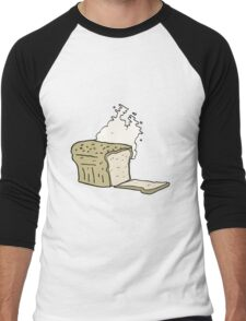 cartoon fresh baked bread Men's Baseball ¾ T-Shirt