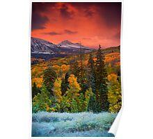Autumn Dawn Over Kebler Pass Poster