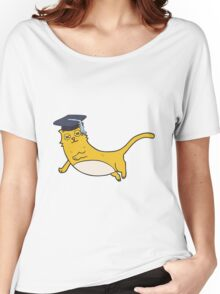 cartoon cat with graduate cap Women's Relaxed Fit T-Shirt