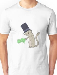 cartoon rich cat Unisex T-Shirt