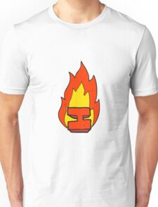 cartoon flaming letter I Unisex T-Shirt