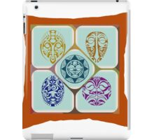 Four traditional Masks in composite iPad Case/Skin