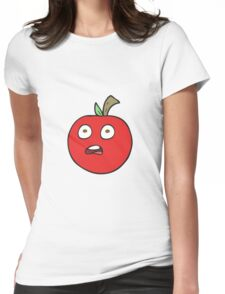 cartoon tomato Womens Fitted T-Shirt