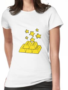 cartoon bars of gold Womens Fitted T-Shirt