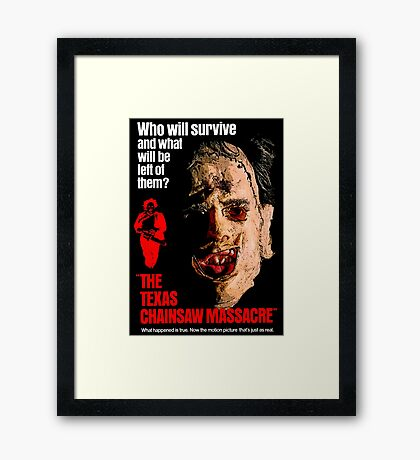 THE TEXAS CHAINSAW MASSACRE 1974 Framed Print