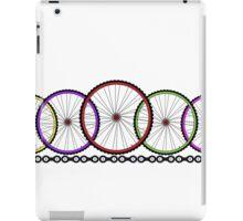Wheelies Cycling T-shirt iPad Case/Skin